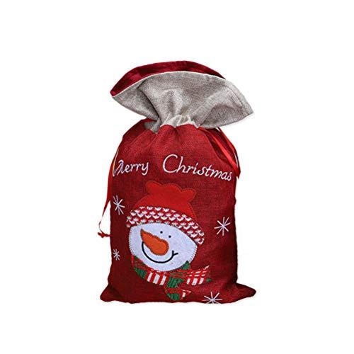 STOBOK Nikolaussäckchen Weihnachten Säckchen Geschenkbeutel Geschenksäckchen Weihnachtsdeko Süßigkeiten Beutel zum Befüllen (Schneemann)