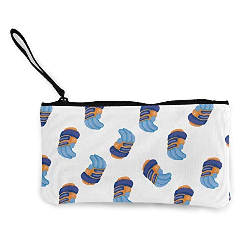 Unisex Geldbörse, Münztaschen, Hockeyausrüstung Cartoon Leinwand Geldbörse Tasche Tragbare Handtasche Tasche mit Reißverschluss für Lippenstift Münzen Bargeld Kreditkarte Headset USB-Ladeschlüssel
