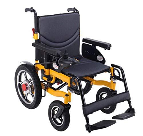 BYCDD Heavy Duty Silla de Ruedas, Plegable Portátil Motor Eléctrica Power Chair de Seguridad 16 Pulgadas de la Rueda Trasera para Personas Mayores y discapacitadas,Black ⭐