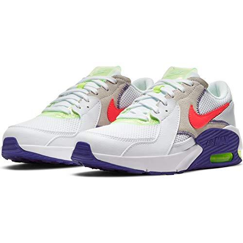 Nike Air MAX EXCEE AMD (GS), Zapatillas para Correr, White BRT Crimson Indigo Burst Volt, 38 EU