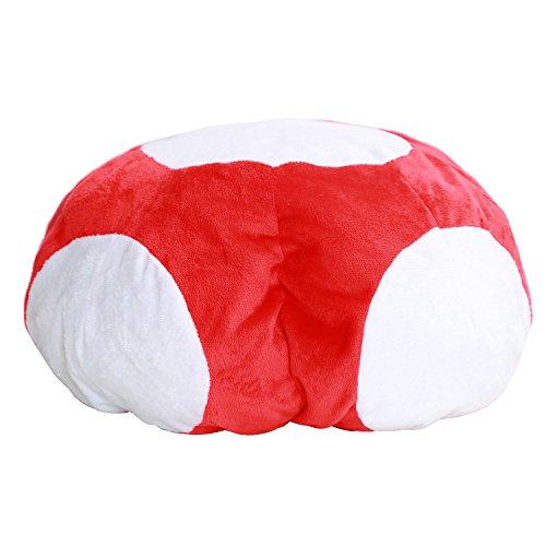 Mario Luigi Hut Cosplay Pilz Mütze Rot & Weiss Mushroom Style Kappe Erwachsene Halloween Kostüm Karneval Kleidungs Zubehör
