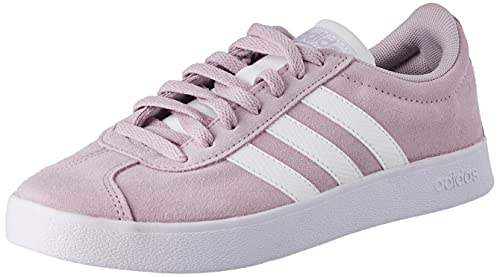 adidas Damen VL Court 2.0 Sneaker, Mauve/Cloud White/Mauve, 39 1/3 EU