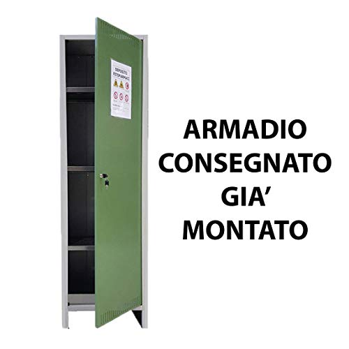 ARMADIO FITOFARMACI 1 ANTA Cm 50x40x179H OMOLOGATO DEPOSITO STOCCAGGIO SICUREZZA