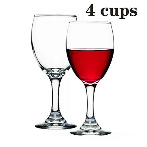 FFFLY Korte steel loodvrij helder kristal glas rood wijnglas set van 2, onverwoestbare gepersonaliseerde moderne bruiloft partij camping kleine wijnglas bedeltje bier glas waterbeker, vaatwasser veilig