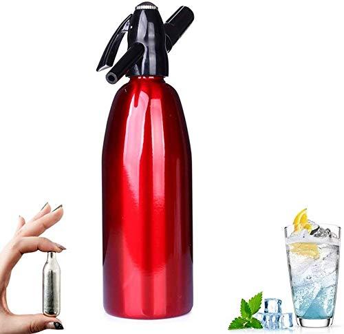 SMLCTY Sparkle Soda Syphon-Silber Mineralwasser-Hersteller mit CO2 und 0 Kalorien Frucht-Tropfen Flavors