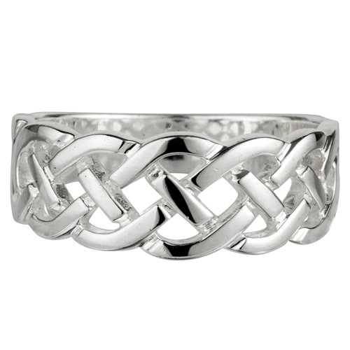 Celtic Knot Ring Sterling Silver Women's Made in Ireland Size 6.5
