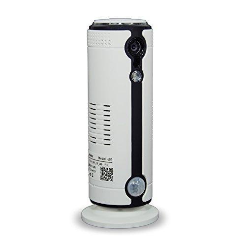LKM Security LKM-IPCIH03WH - Cámara de vigilancia (Sensor Camera, Interior, Inalámbrico y alámbrico, Suelo/Pared, Negro, Blanco, 110°)
