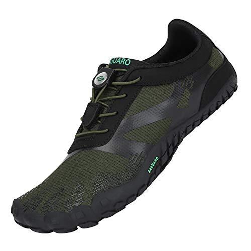 Zapatillas de Trail Running Minimalistas Hombre Barefoot Respirable Secado rápido Hombres Zapatos de Agua Deportes Acuáticos Escarpines Verde 42