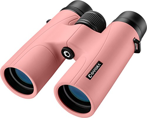 BARSKA AB12976 Crush Binoculars for Hunting, Hiking, Events, Sports, etc, 10x42mm, Blush Pink