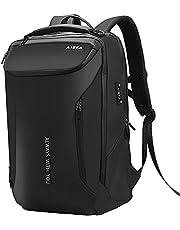 AISFA リュック メンズ リュックサック ラップトップバック バックパック 17インチ PC ビジネスリュック 大容量 bag 30L USB充電機能付きA4収納多ポケッ多機能 通気性トアウトドア旅行 防水 通勤 修学 男女兼用