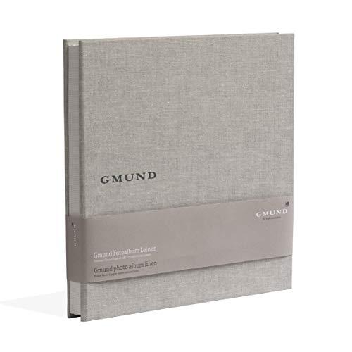 Gmund Papier Fotoalbum Leinen 50 Seiten (Fotobuch 30 x 30 cm, Bilder Format 9 x 13, 10 x 15)