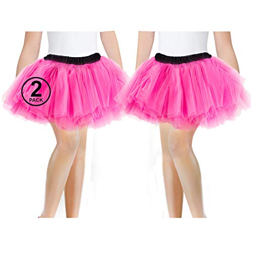 Pack of Pink 2 1980s Party Tutu Skirts. One size with elasticated waist