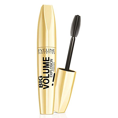 Eveline Cosmetics Big Volume Explosion Mascara | 11 ML | Tiefschwarz | Innovative Bürste Big Brush™ | Stärkere Wimpern