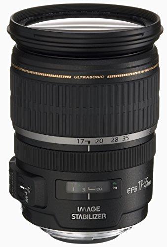 Canon Zoomobjektiv EF-S 17-55mm F2.8 IS USM für EOS (77mm Filtergewinde, Bildstabilisator), schwarz