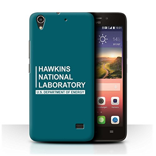 Stuff4® hoes/case voor Huawei Ascend G620S / blauwgroen patroon/Hawkins nationale laboratorium collectie