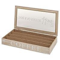 Boîtes à thé en bois ou boîte de rangement pour capsules de café couvercle en verre à épices alimentaire