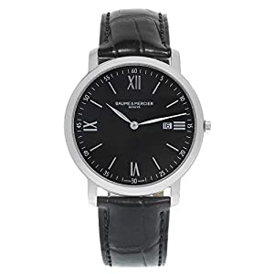 Baume and Mercier Classima Executives Black Dial Stainless Steel Mens Watch 10098 image