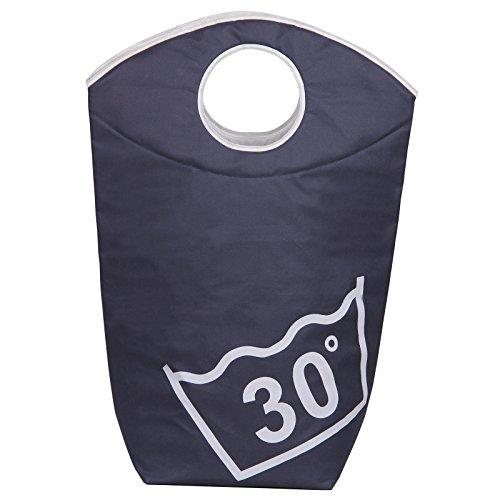IDIMEX Panier Corbeille Sac à Linge Laundry Polyester Bleu foncé