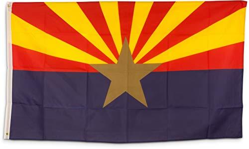 SCAMODA Bundes- und Länderflagge aus wetterfestem Material mit Metallösen (Arizona) 150x90cm