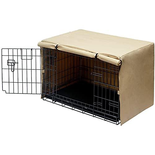 Copertura per cuccia per cani Copertura per cuccia per animali domestici ventilata per gabbie metalliche Copertura per cuccia per animali domestici resistente all'acqua e antivento per impieghi grav