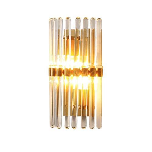 ZZYJYALG Antecedentes nórdica de lujo H65 Todos cobre lámpara de pared de cabeza del espejo individual lámpara de la linterna cepillado final del oro pared Luz de pared Iluminación Salón Comedor apli