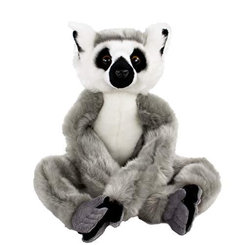 Teddys Rothenburg Kuscheltier Katta Lemur sitzend 46 cm grau/weiß/schwarz Klettarme und -Beine Plüschlemur