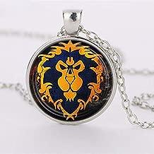 Lion King Necklace Rafiki Simba Drawing Glass Round Pendant Jewelry Silver Pendants for Men Women Gift