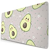 MODUHFYA Cartoon Cute Avocado Large Mouse Pad Computer Gaming Mat 15.8 X 29.5 Inch Non-Slip Rubber Mice Pads Desk Mousepad for Office/Home, Laptop, Mouse Pad