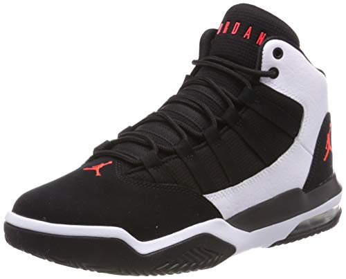 Nike Jungen Jordan Max Aura Basketballschuhe, Multicolore (White/Infrared 23/Black 101), 39 EU
