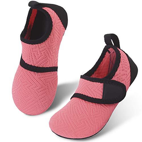 JIASUQI Baby Aqua Schuhe Schnell trocknende Wassersportschuhe für Strand Pool Boot Fahren Schwimmen Surf Einfach Orange, 20/21 EU