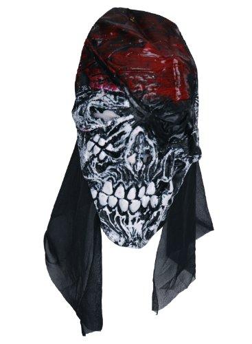 Zombie Masque en caoutchouc rouge Tête skele