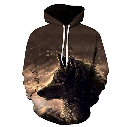 TLLW Unisex-Sweatshirt, hässlich, 3D-Druck, langärmelig, für Paare, Hoodies, Übergröße, S-6XL Gr. L, F008