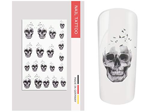 NailArt Tattoo Totenkopf Vogel - NAIL ART Nagel Kunst Naildesign