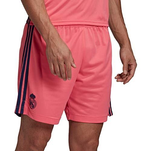adidas Madrid Temporada 2020/21 Real A SHO Pantalón Corto Segunda equipación, Unisex, Rosa, M