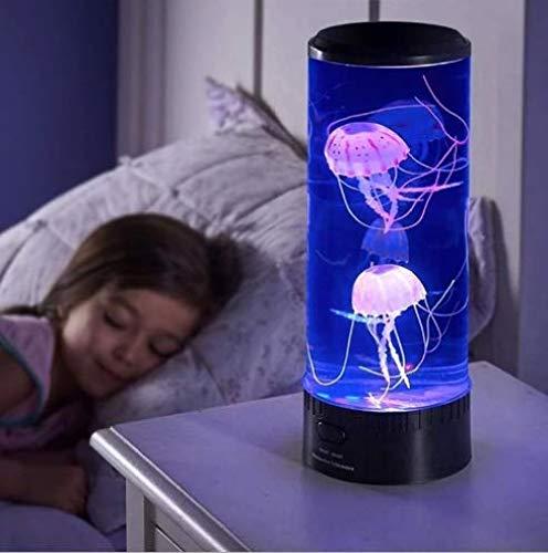 Jeirifermtv Quallen Lampe Lavalampe Aquarium Lampe Farbwechsellampe Quallen Aquarium Stimmungslampe Lava Lampen für Kinder Schlafzimmer Weihnachten Geburtstagsgeschenk Homeoffice