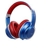 Auriculares con Cancelación de Ruido Inalámbrico Bluetooth 5.0, Srhythm 2020 Version NC15 Over-Ear Plegable con Micrófonos para Clase en Línea/Oficina en el hogar/TV/PC/Teléfono (Blue-1)