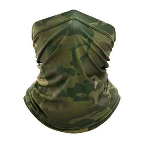 Toctax Halstuch für Männer Frauen Bandana Multifunktionale Sommer-Gesichtsmaske Dünnatmender Motorrad-Mundschutz Kapuzenschal für das Fahren im Freien