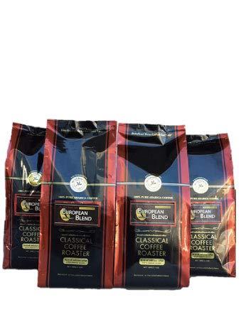 コーヒー豆 クラシカルコーヒーロースター 100% アラビカ 豆 ヨーロピアン ブレンド 2kg ( 500g×4袋 ) 豆 のまま Combo Set