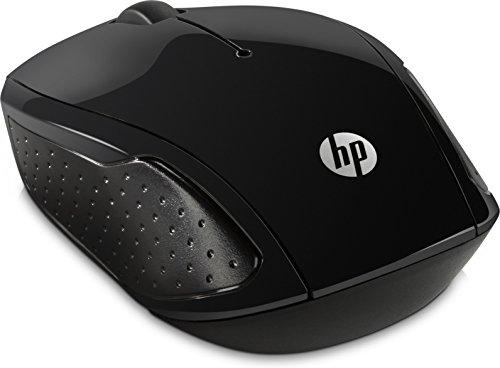 HP 200 (X6W31AA) kabellose Maus (1.000 dpi, 3 Tasten, Scrollrad, USB dongle) schwarz