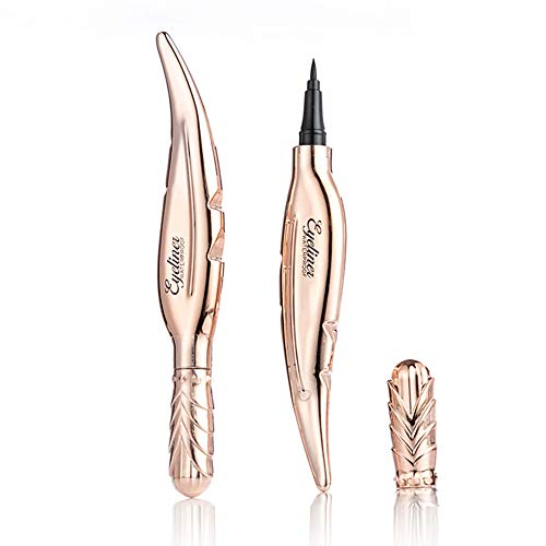 Lucoss Black Eyeliner Feather Shaped Eyeliner Long Lasting Waterproof Smudge-Proof Eyeliner Pen...