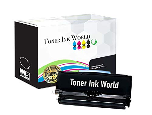 TIW Lexmark E460dn Replacement Black Toner Cartridge for Lexmark E460, E460dn, E460dtn, E460dw Printers High Yield 15,000 Pages, Cartridge E460X11A, E460X21A Perfect for Home and Commercial use.