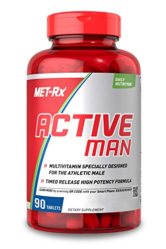 MET-Rx Active Man Multivitamin for Men, with Vitamins D, C, E, and B12, 90 Tablets