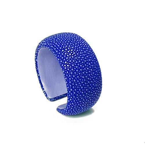 a cuckoo moment Damen Armreif Samba aus Rochenleder 30mm (Royal Blue)