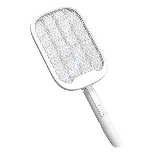 KELITE Mosquitero eléctrico Switter LED Purple Light Mosquito Trampa Inducción Mosquito Mosquito Killer Home 2 en 1 Fly Swatter USB USB Recargable Insecto Asesuario Trampa