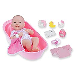 professional 8 Layette Deluxe Bath Gift Set | JC Toys – Newborn | 14 inch vinyl that looks like a smile…