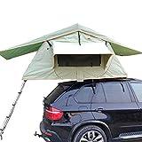Tente de Toit Pliable exempte de Mise en Place, Conduite Autonome en extérieur Tente de véhicule, Fonction de Protection Solaire Contre Les UV et Les UV (avec échelle télescopique)