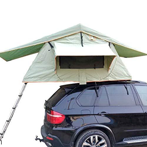 Fire cloud Exempt Set Up faltbares Dachzelt, selbstfahrendes Outdoor-Reise-Fahrzeugzelt, Sonnenschutz wasserdicht und UV-Schutzfunktion (mit Teleskopleiter)
