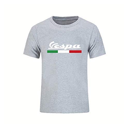 Vespa Classic Retro T Shirt para Hombre Vespa Motorcycle Camiseta de moda Color Sólido Impreso Camiseta suave y cómoda para hombre T Shirts T Shirts Regalos para hombres Desgaste de la motocicleta Top