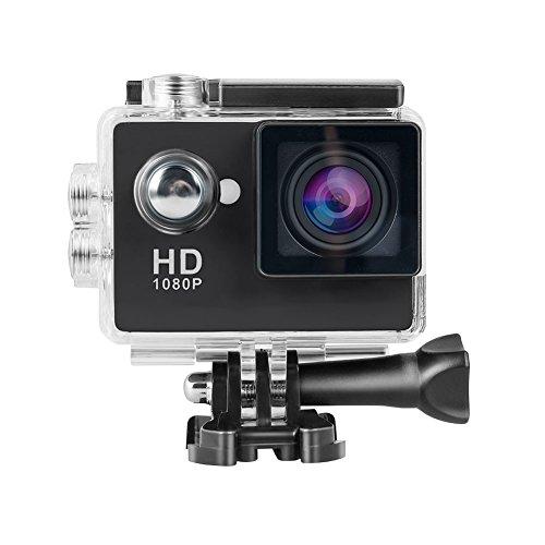 Topjoy 1080P Full HD 2.0 inch LCD Screen Waterproof Sports Action Camera Cam DV 12MP DVR Helmet Camera Sports DV Camcorder (Black)
