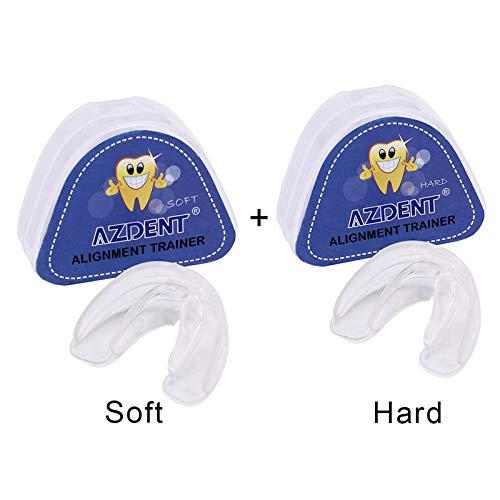 LIZONGFQ 2ST Zahnspangen Zahnspange Transient Silikon Lächeln Zähne Ausrichtung Trainer Dental Retainer Zahnspange Zahnspange Zahnspange